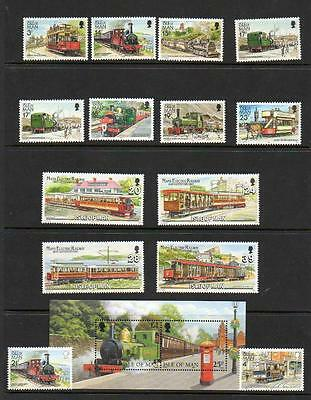 (A6)  Isle Of Man Selection Trains & Trams   Mnh  As Scans Collect Or Postage