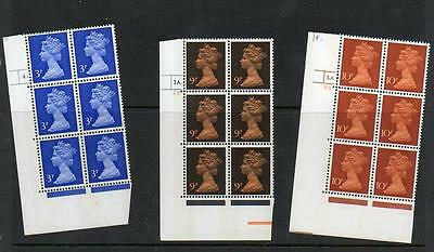 (A221) Eii Machin  Corner Blocks Of 6 Control Marks See Scans For Numbers Mnh