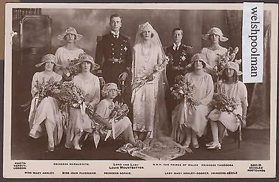Lovely Vintage 1927 Lord And Lady Louis Mountbatten Wedding British Royalty