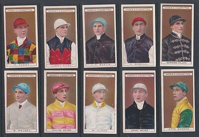 CIGARETTE CARDS Ogdens 1906 Owners Racing Colours & Jockeys nos 21 to 30
