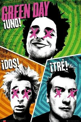 GREEN DAY ~ UNO! DOS! TRE! 24x36 MUSIC POSTER Billie Joe Armstrong Dirnt Cool
