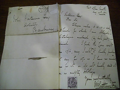 old letters.1871 to john fortescue.from neath