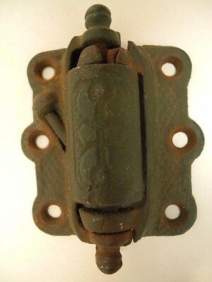 Antique Vintage Victorian Spring Loaded Cast Iron Screen Door Hinge Hardware