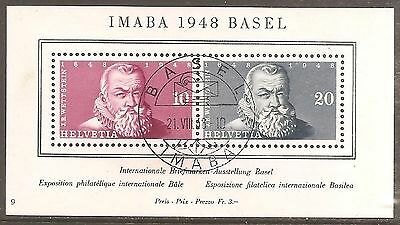 1948 Switzerland IMABA Basel SG MS498a Used (Cat £100)
