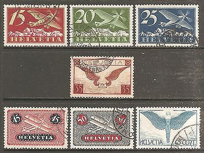 1923-29 Switzerland Air (Ordinary Gum) Selection Used (Cat £210)