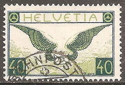 1933 Switzerland Air 40c Wings (Grilled Gum) SG 322a Used (Cat £120)