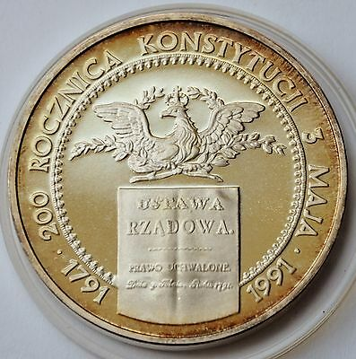 200000 Zlotych, 1991, 200th Anniversary of Polish Constitution, Poland