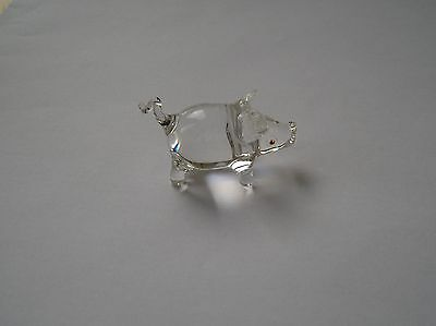 Collectable Vintage Tiny Glass Pig Figure Circa 1960s