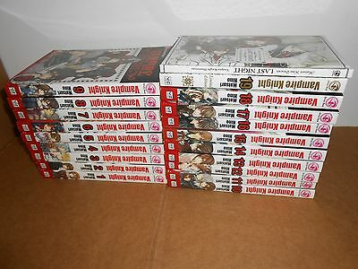 Vampire Knight Vol. 1-19 (+Last Night) Manga Book Complete Lot in English