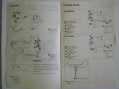Singer 29K Class Owner's Operating Guide With Parts Lists