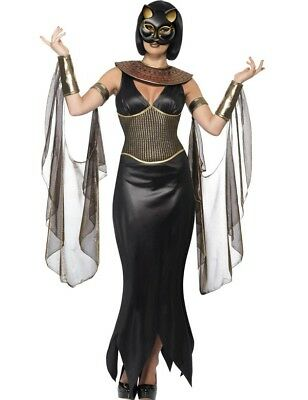 Ladies Egyptian Animal Bastet the Cat Halloween Fancy Outfit Dress Costume