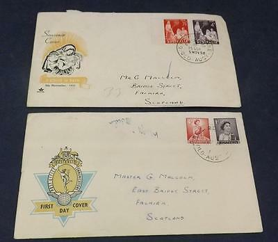 Two 1958 First Day Covers from Australia FDC74