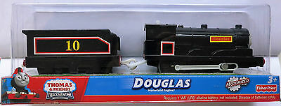 New In Box Thomas & Friends Trackmaster Motorized Engine Douglas with carriage