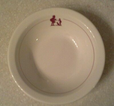 """Howard Johnson's """"Pieman"""" Pattern Cereal Bowl  From Walker China Excellent!"""