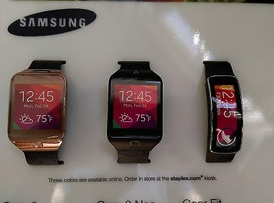 Samsung Galaxy Gear 2, Neo, Fit Smart Watch Store Display Dummy Model Nonworking
