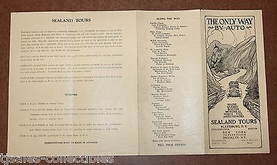 1920's Sealand Tours Auto Travel Brochure Advertising $110 for 1500 Miles