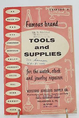 "1956 ""Famous Brand Tools & Supplies"" for Watch, Clock & Jewelry Repairer-112 pgs"