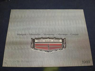 1969 Lincoln Mercury Dealer Sales Brochure Catalog Cougar Vintage ORIGINAL