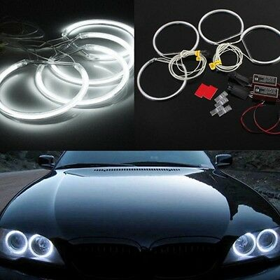 4x*131mm Car CCFL LED Angel Eyes Halo Rings for BMW E36 E38 E39 E46 White