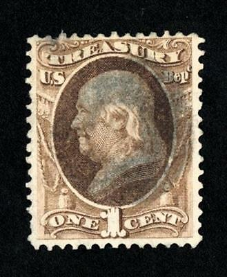 Dr Jim Stamps Old Us Official Scott O72 1C Treasury Department Used No Reserve