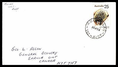 Australian Cover With Spiny Anteater Issue To Sarnia Ontario Canada,