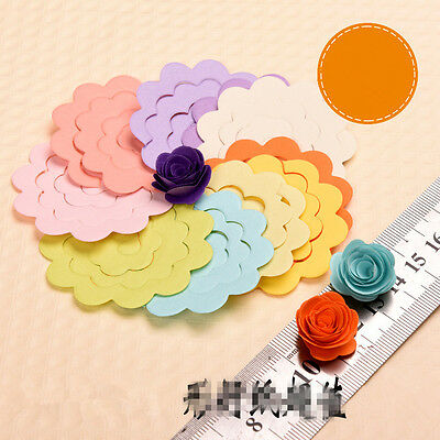 Handmade Flower Type Origami Manual Rose Paper Mixed Colors 7.5cm/5.4cm