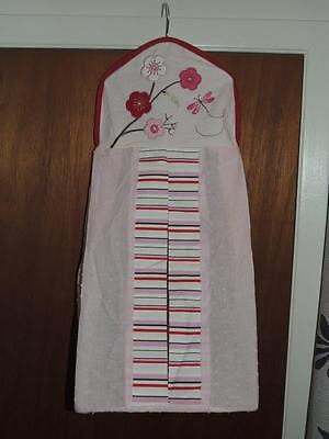 Kidsline Cherry Blossom Diaper Stacker Floral Embroidery Butterfly Pink
