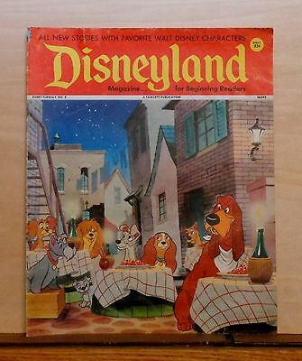 Disneyland Magazine #3 - Lady & the Tramp cover - 1972 Fawcett - large issue