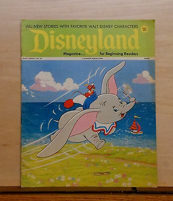 Disneyland Magazine #23 - Dumbo & Timothy cover - 1972 Fawcett - large issue