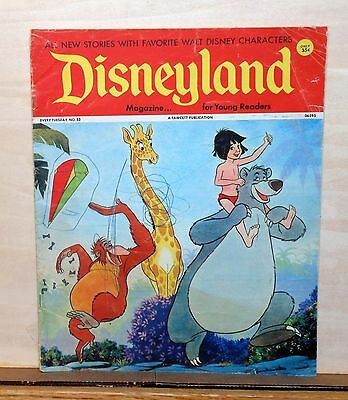 Disneyland Magazine #53 - Jungle Book cover - 1973 Fawcett - large size issue