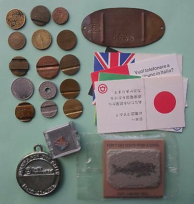 27 Diff. Telephone Related Tokens  Medals  Scrip