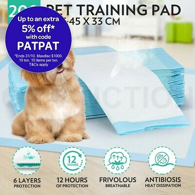 200pcs 45x33cm Super Absorbent Pet Puppy Dog Cat Indoor Toilet Training Pads