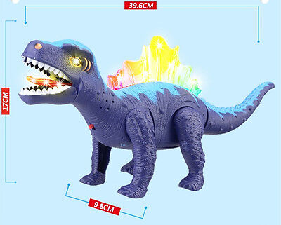 Walking Dinosaur Toy Figure with Lights&Sounds Movement Blue Spinosaurus