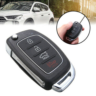 1x 4 Button Flip Remote Key Fob Case Shell for 2013-2014 HYUNDAI Santa Fe (ix45)
