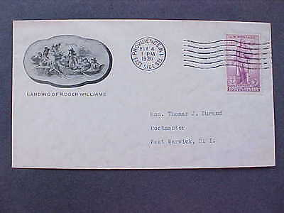 East Side Station, Rhode Island 1936 #777 UNOFFICIAL First Day Cover