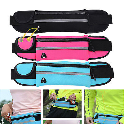 Sports Dual Bag Run Jogging Cycling Waist Belt Pouch Pocket Adjustable for phone