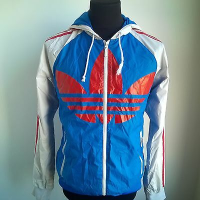 Red White Blue Shell Jacket Trefoil Track Top Adidas Football Size Adult M