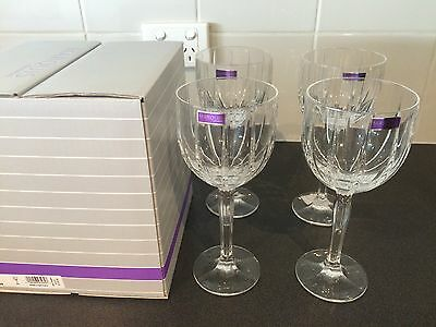 Waterford Omega Wine Glasses Large  Set of 4 NIB RRP $129