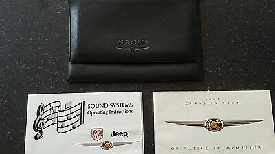 Chrysler neon owners manuals and wallet