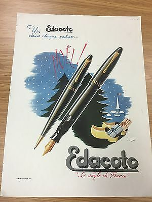 Original Vintage EDACOTO Pen Magazine Advert 1950s