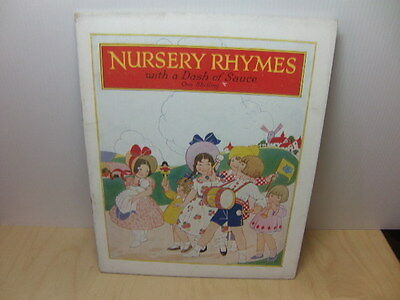 Nursery Rhymes with Dash of Sauce – HP Sauce Advertising book for children 1920s