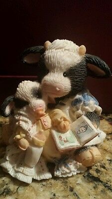 "Mary's Moo Moos ""pasture Bedtime"" 627763 1993 Enesco Cow"