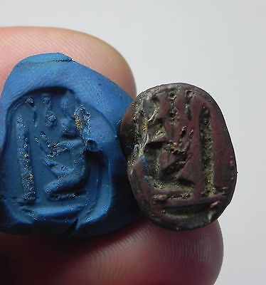 Zurqieh -Af1036-  Ancient Egypt, New Kingdom. Stone Scarab 1400 B.c
