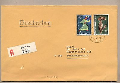 Liechtenstein 1972 Used R-cover.Send to West Germany.See scan.Lot 23.