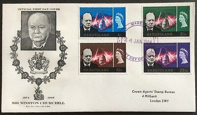 Basutoland 1966 Comm of Churchill First Day Cover,FDC (See Scans)
