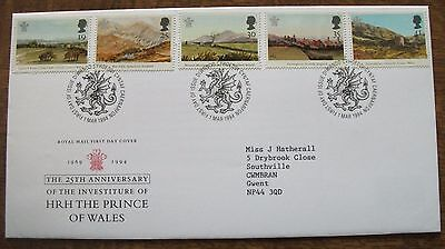 GB 1994 25th Anniversary of Investiture First day Cover