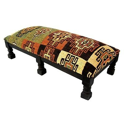Silkroute STO11  Double Kilim Foot Stool