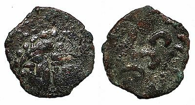 (4531) Chach AE coin, Unknown principality I, Double portrait.