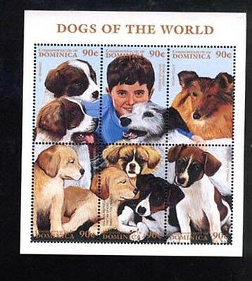 024171 DOGS set DOMINICA MNH #24171