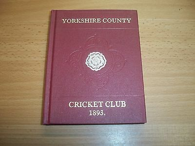 Yorkshire County Cricket Club Yearbook 1893 - Facsimile Limited Edition